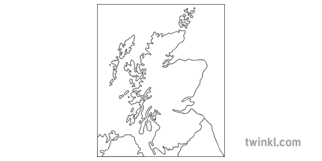 blank map of scotland worksheet Outline Map Of Scotland Black And White Illustration Twinkl blank map of scotland worksheet