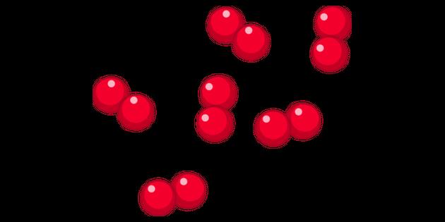 Particle Diagram Molecule 2 Illustration