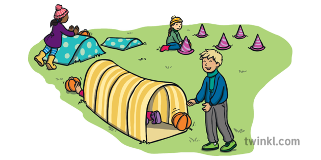 Pumpkin Obstacle Course Illustration - Twinkl