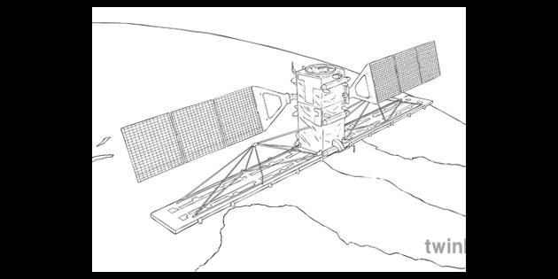 Radarsat 2 Above Earth Planet Space Satellite Science Ks2 Bw Rgb
