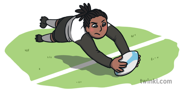 Rugby Try Ball Sport World Cup Open Eyes Ks1 Illustration Twinkl