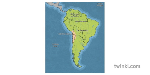 Map Of North America Ks2.South America Map With Atacama Desert Cartography Latam Geography