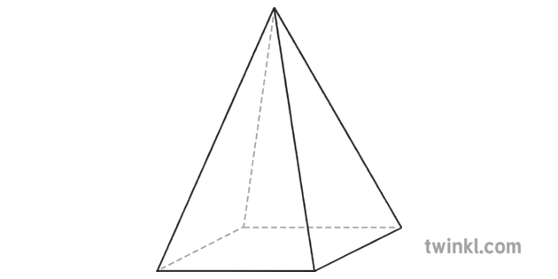 Square Based Pyramid 3D Shape Geometry Maths General Dimensional Science
