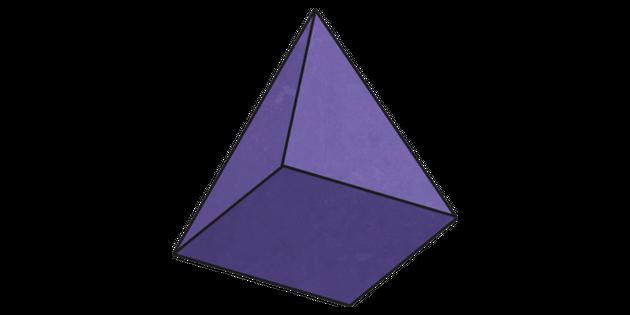 Square Based Pyramid Illustration - Twinkl