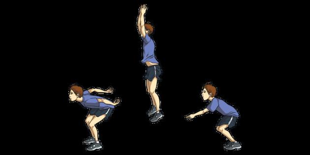Standing Vertical Jump Phases KS2 Illustration - Twinkl