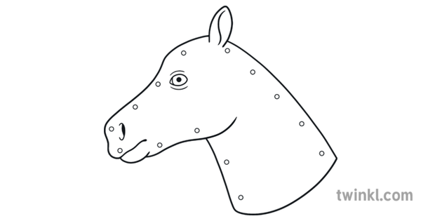 Stick Horse Head Cutout Kentucky Derby Racing Craft Usa Ks1 Illustration