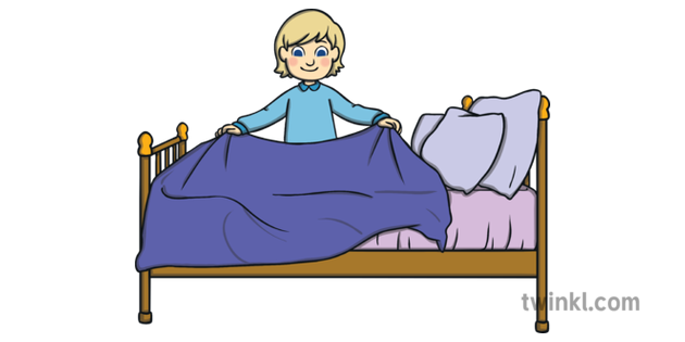 Картинки как заправляют кровать