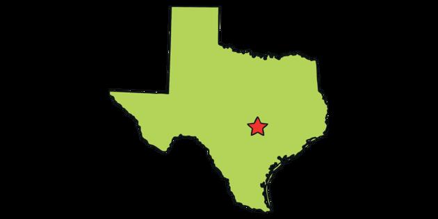 Texas Capital Map Texas Outline USA State Map Austin Capital KS1 Illustration   Twinkl