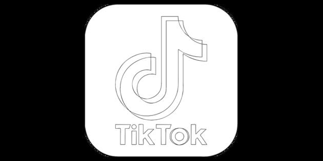 Tik Tok App Icon Black And White Rgb Illustration Twinkl