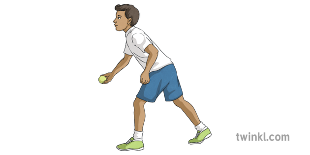 Underarm Throw Step 2 Y3 Athletics Twinkl Move PE KS2 2 Illustration