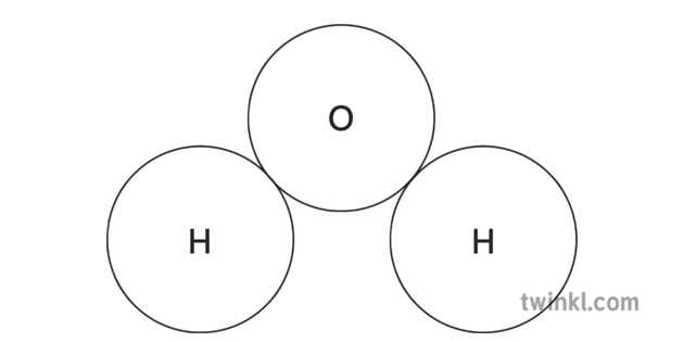 Water Molecule Diagram Black And White.Water Molecule Science Diagram Beyond Black And White Rgb