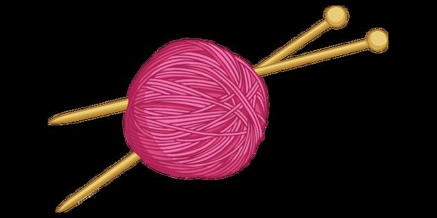 Wool And Knitting Needles Illustration Twinkl