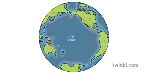 Map Of Asia Ks1.World Map Showing Pacific Ocean With Labels Geography Australia