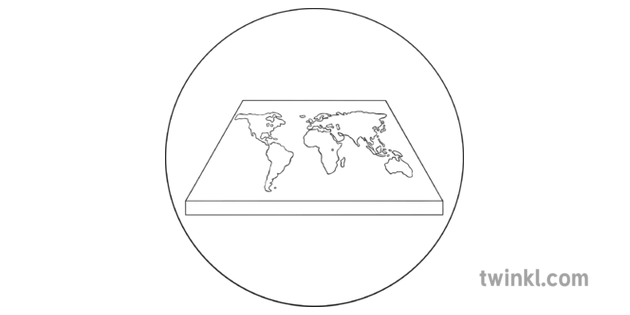 Ancient Chinese Flat Square Earth Black
