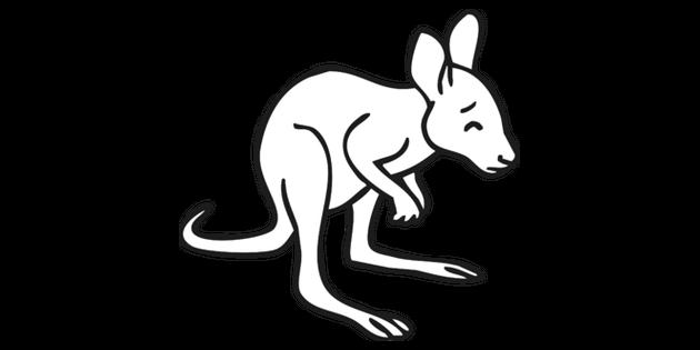 Baby Kangaroo Joey Looking Worried Black and White