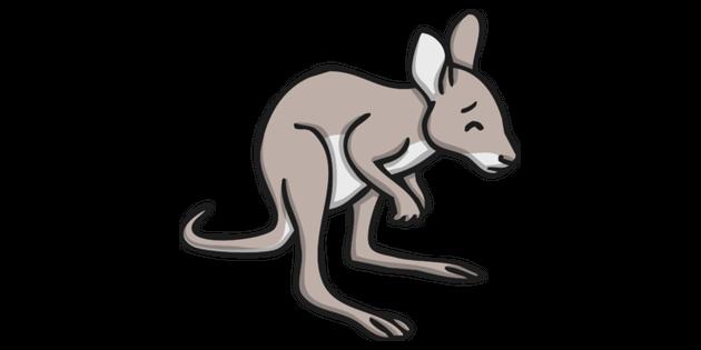 Baby Kangaroo Joey Looking Worried Illustration - Twinkl