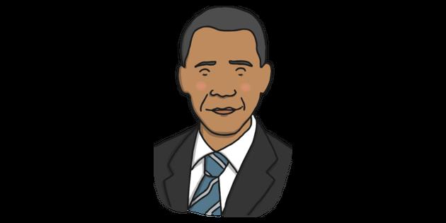 Barack Obama Illustration Twinkl