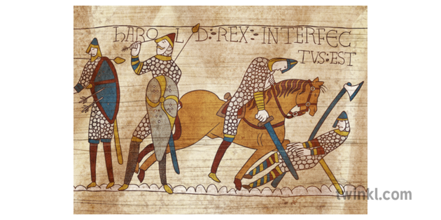 Bayeux Tapestry Illustration - Twinkl