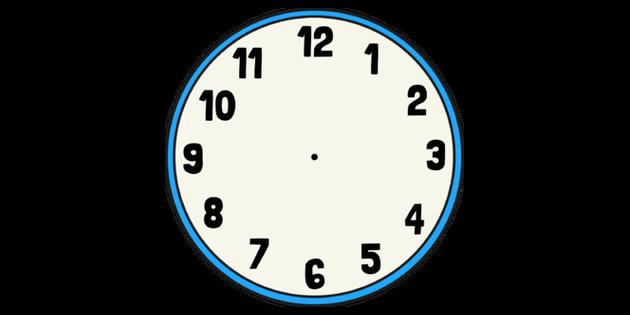 Blank Clock Face Illustration - Twinkl