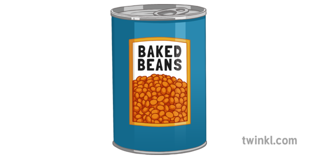 Can Of Baked Beans Illustration Twinkl
