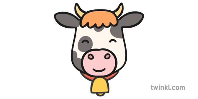Cow Face Illustration - Twinkl