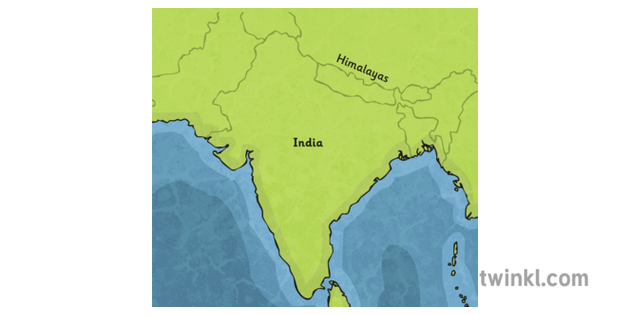 Map of India Illustration - Twinkl