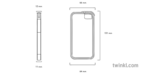Pencil Sketch Of Mobile Phone From Front And Side View Illustration Twinkl