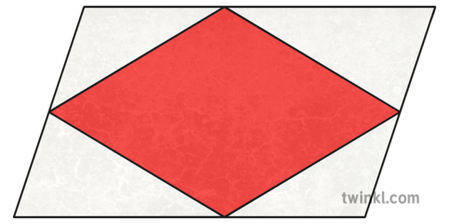 Quadrilateral Puzzle Parallelogram And Rhombus Illustration