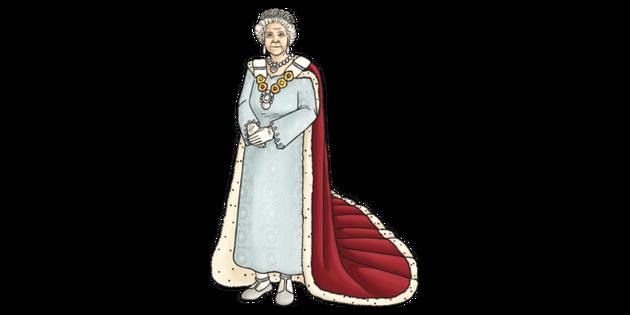 Queen Elizabeth Ii Illustration Twinkl