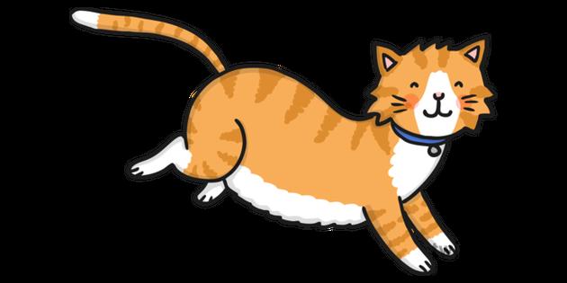 Running Cat Clip Art - Royalty Free - GoGraph