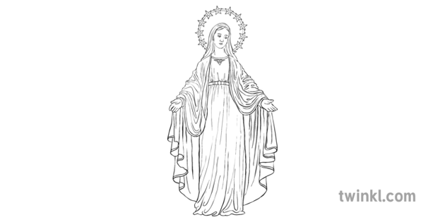 Statue Of Mary Illustration Twinkl