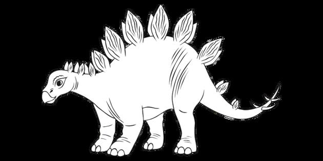 Stegosaurus Dinosaurio Blanco Y Negro Ilustracion Twinkl Elige los colores que quieras para transformar este dinosaurio en blanco y negro en un dinosaurio lleno de vida y de color. stegosaurus dinosaurio blanco y negro