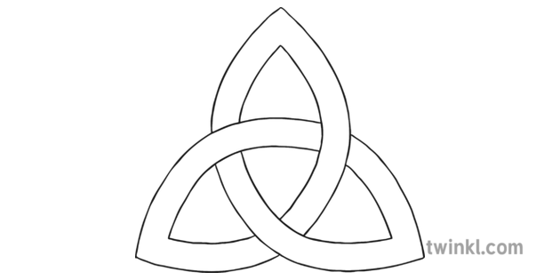 The Holy Trinity Symbol Black and White Illustration - Twinkl
