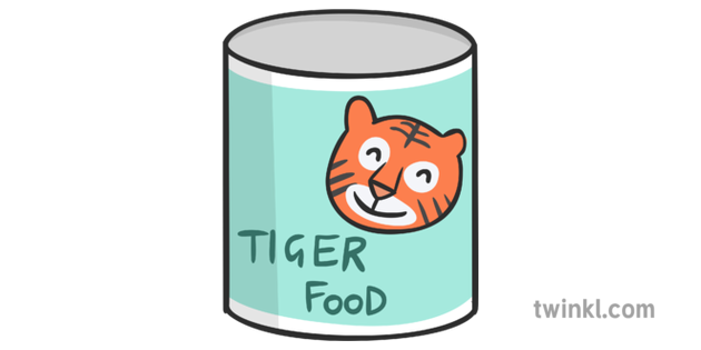 Tin of Tiger Food Illustration - Twinkl