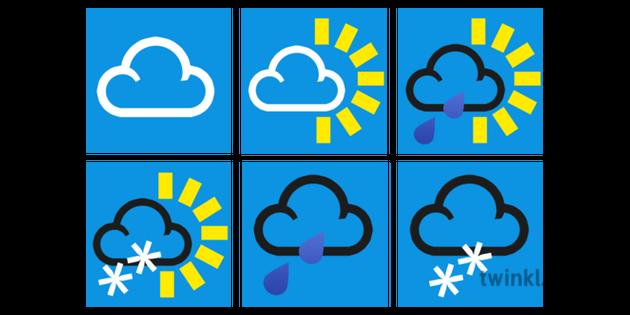 Weather Symbols Illustration