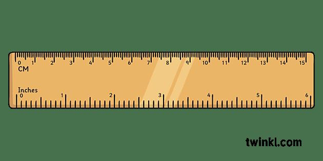 15 Cm Ruler Illustration - Twinkl