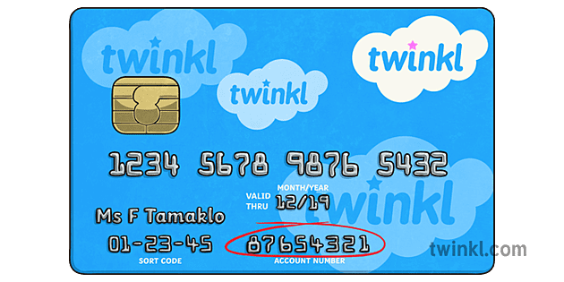 Debit Card Account Number Maths Numeracy Money CfE KS8