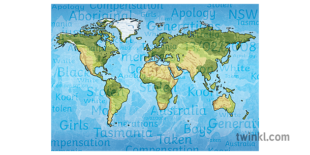 Cartina Del Mondo On Line.Mappa Del Mondo Indigena Cartografia Terra Terra Ks2 2 Illustration Twinkl