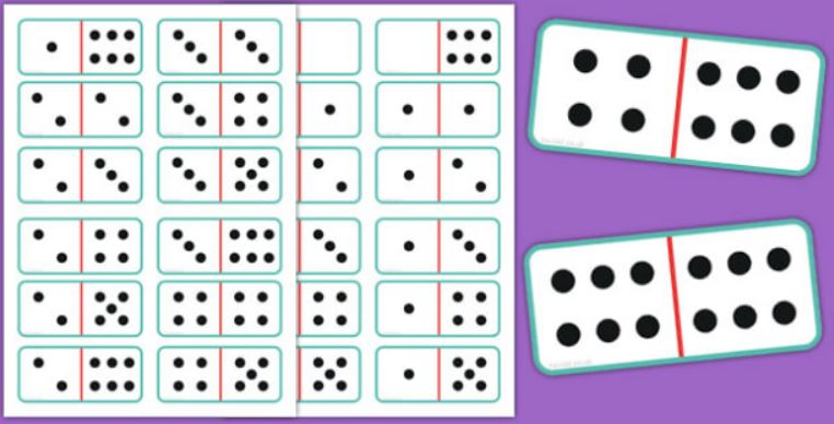 Printable Club Domino Cards Primary Resources