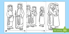 * NEW * Ruth and Naomi Women in the Bible Colouring Pages