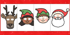 Christmas Role Play Masks