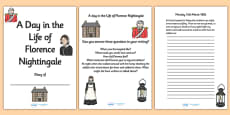 Florence Nightingale Diary Writing Frames with Prompts