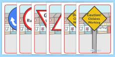 Classroom Road Display Signs