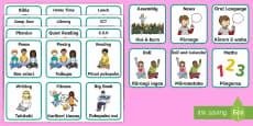 Visual Timetable Flashcards English/Te Reo Māori