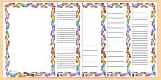 Crayon Page Borders