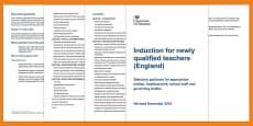 * NEW * Induction for newly qualified teachers (NQTs) 2016 Adult Guidance
