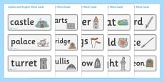 Castles and Knights Word Cards