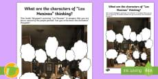 * NEW * Las Meninas Thought Bubbles Activity Sheet