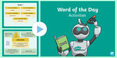 * NEW * Year 5 Word of the Day Spring 2 PowerPoint