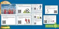 * NEW * LKS2 Football Themed Maths QR Code Hunt Activity